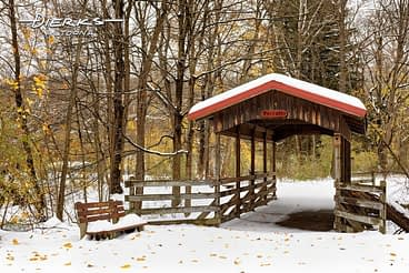 Lorraine covered bridge on the Lower Trail in Blair County, Pennsylvania.