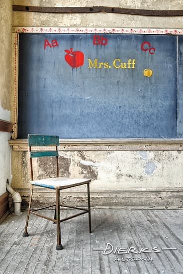 Abandoned Elementary School Classroom