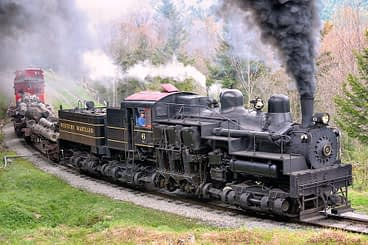 Shay Steam Locomotive Running at Cass Scenic Railroad